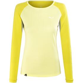 Salewa Pedroc Delta Dry Naiset Pitkähihainen paita , keltainen